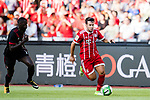 Bayern Munich Midfielder Juan Bernat (R) in action against AC Milan Forward MBaye Niang (L) during the 2017 International Champions Cup China  match between FC Bayern and AC Milan at Universiade Sports Centre Stadium on July 22, 2017 in Shenzhen, China. Photo by Marcio Rodrigo Machado / Power Sport Images