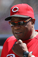 SAN FRANCISCO - JUNE 30:  Manager Dusty Baker of the Cincinnati Reds watches batting practice before the game against the San Francisco Giants at AT&T Park on June 30, 2012 in San Francisco, California. (Photo by Brad Mangin)