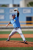 Tampa Bay Rays pitcher Tyler Day (24) during a Minor League Spring Training game against the Boston Red Sox on March 25, 2019 at the Charlotte County Sports Complex in Port Charlotte, Florida.  (Mike Janes/Four Seam Images)
