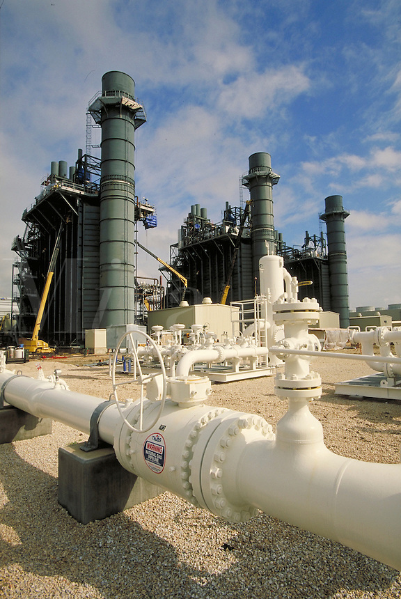 natural gas pipeline at power cogeneration plant