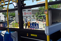 TOKYO, JAPAN - JULY 19 : A view from a vehicle prior to the Tokyo 2020 Summer Olympic Games on July 19, 2021 in Tokyo, Japan, 19/07/2021. Media from overseas are not allowed to go into public places during the first fourteen days of their stay in Japan. The only way to get a glimpse of the city is from a vehicle transporting the media from hotel to venue<br /> Photo Photonews / Panoramic / Insidefoto <br /> ITALY ONLY