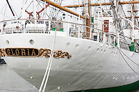 The Colombian training ship ARC Gloria docked at the Intrepid pier during 2012 Fleet Week in New York City