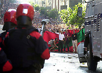 Demonstration in Bilbao on 14th September 2002..Photo: Ander Gillenea.