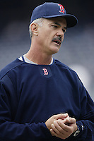 Boston Red Sox coach Dwight Evans before a 2002 MLB season game against the San Diego Padres at Qualcomm Stadium, in San Diego, California. (Larry Goren/Four Seam Images)