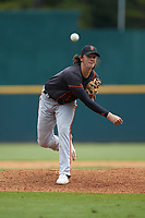 Jace Jones (31) of Cypress Lake HS in Fort Myers, FL playing for the San Francisco Giants scout team during the East Coast Pro Showcase at the Hoover Met Complex on August 3, 2020 in Hoover, AL. (Brian Westerholt/Four Seam Images)