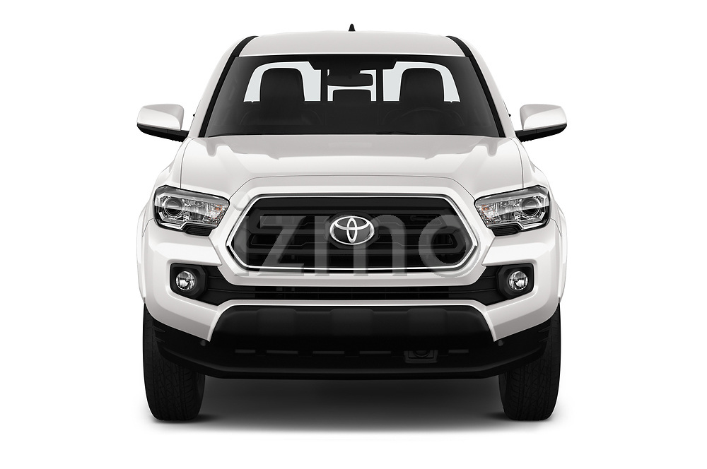 Car photography straight front view of a 2020 Toyota Tacoma SR5 4 Door Pick Up