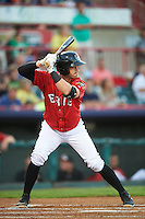 Erie SeaWolves designated hitter Connor Harrell (10) at bat during a game against the Richmond Flying Squirrels on August 22, 2016 at Jerry Uht Park in Erie, Pennsylvania.  Erie defeated Richmond 4-2.  (Mike Janes/Four Seam Images)