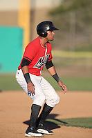 Jody Lara #7 of the High Desert Mavericks runs the bases during a game against the Modesto Nuts at Heritage Field on June 29, 2014 in Adelanto, California. High Desert defeated Modesto, 6-1. (Larry Goren/Four Seam Images)