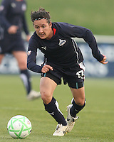 Lisa De Vanna (17) of the Washington Freedom races forward during a WPS match against the Chicago Red Stars at Maryland Soccerplex on April 11 2009, in Boyd's, Maryland.  The game ended in a 1-1 tie.