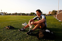 Photo: Richard Lane/Richard Lane Photography. London Wasps in Abu Dhabi for their LV= Cup game against Harlequins on 30st January 2011. 29/01/2011. Wasps' Ben Jacobs at training.