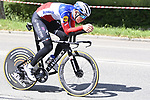 Rémi Cavagna (FRA) Deceuninck-QuickStep recces the route during Stage 1 of the 2021 Giro d'Italia, and individual time trial running 8.6km around Turin, Italy. 8th May 2021.  <br /> Picture: LaPresse/Fabio Ferrari   Cyclefile<br /> <br /> All photos usage must carry mandatory copyright credit (© Cyclefile   LaPresse/Fabio Ferrari)