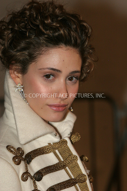 """WWW.ACEPIXS.COM . . . . .  ....NEW YORK, MAY 1, 2006....Emmy Rossum at the """"AngloMania"""" Costume Institute Gala at The Metropolitan Museum of Art - Exits....Please byline: NANCY RIVERA- ACEPIXS.COM.... *** ***..Ace Pictures, Inc:  ..Craig Ashby (212) 243-8787..e-mail: picturedesk@acepixs.com..web: http://www.acepixs.com"""