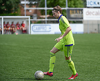 20150808 - ZULTE , BELGIUM : Anderlecht's Heleen Jaques pictured during a friendly soccer match between the women teams of Zulte-Waregem and RSC Anderlecht  , during the preparations for the 2015-2016 SUPERLEAGUE season, Saturday 8 August 2015 . PHOTO DAVID CATRY