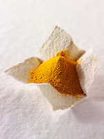 Ground turmeric spice powder