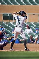 Salt River Rafters Seth Beer (8), of the Arizona Diamondbacks organization, at bat during the Arizona Fall League Championship Game against the Surprise Saguaros on October 26, 2019 at Salt River Fields at Talking Stick in Scottsdale, Arizona. The Rafters defeated the Saguaros 5-1. (Zachary Lucy/Four Seam Images)