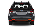 Straight rear view of 2021 Subaru Forester e-Boxer-Sport 5 Door SUV Rear View  stock images