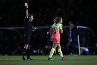 A yellow card for Georgia Stanway of Manchester City during Arsenal Women vs Manchester City Women, FA Women's Continental League Cup Football at Meadow Park on 29th January 2020