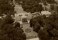 historical aerial photograph of the White House, Washington, DC, 1931