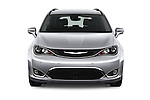 Car photography straight front view of a 2017 Chrysler Pacifica Touring-L-Plus 5 Door Minivan Front View