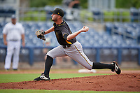 Bradenton Maruaders pitcher Joe Jacques (30) during a Florida State League game against the Charlotte Stone Crabs on August 7, 2019 at Charlotte Sports Park in Port Charlotte, Florida.  Charlotte defeated Bradenton 3-2 in the second game of a doubleheader.  (Mike Janes/Four Seam Images)