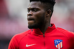 Thomas Teye Partey of Atletico de Madrid warms up prior to the La Liga 2017-18 match between Atletico de Madrid and Girona FC at Wanda Metropolitano on 20 January 2018 in Madrid, Spain. Photo by Diego Gonzalez / Power Sport Images