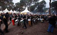Batukada, music performance during Pinguinos 2013, international motorbike meeting in Puente Duero, Valladolid. January, 12 2013. (ALTERPHOTOS/Victor Blanco) NORTEPHOTO