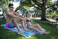 Barton Springs Pool, a nationally recognized natural swimming pool lies in the historic Zilker Park. The pool is spring fed, over 900 feet long and the average temperature year round is 68 degrees Fahrenheit.