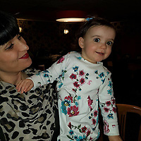 """COPY BY TOM BEDFORD<br /> Pictured: Pearl Black (R) with mum Gemma<br /> Re: The funeral of a toddler who died after a parked Range Rover's brakes failed and it hit a garden wall which fell on top of her will be held today at Merthyr Tydfil.<br /> One year old Pearl Melody Black and her eight-month-old brother were taken to hospital after the incident in south Wales.<br /> Pearl's family, father Paul who is The Voice contestant and mum Gemma have said she was """"as bright as the stars""""."""