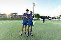 Miami, FL - Tuesday, October 15, 2019:  Chris Richards #14, Mark McKenzie #6 during a friendly match between the USMNT U-23 and El Salvador at FIU Soccer Stadium.