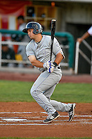 Hunter Melton (15) of the Grand Junction Rockies at bat against the Orem Owlz in Pioneer League action at Home of the Owlz on July 6, 2016 in Orem, Utah. The Rockies defeated the Owlz 5-4 in Game 2 of the double header.  (Stephen Smith/Four Seam Images)