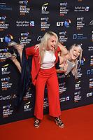 Amy Fuller and Elise Christie<br /> arriving for the BT Sport Industry Awards 2018 at the Battersea Evolution, London<br /> <br /> ©Ash Knotek  D3399  26/04/2018