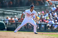 Baltimore Orioles infielder Cord Phelps (72) during a spring training game against the Boston Red Sox on March 8, 2014 at Ed Smith Stadium in Sarasota, Florida.  Baltimore defeated Boston 7-3.  (Mike Janes/Four Seam Images)