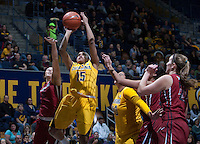 Brittany Boyd of California shoots the ball during the game against Washington State at Haas Pavilion in Berkeley, California on February 27th, 2014.   California defeated Washington State, 75-68.