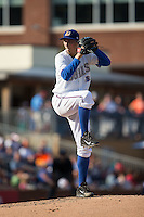 Durham Bulls starting pitcher Blake Snell (37) in action against the Louisville Bats at Durham Bulls Athletic Park on August 9, 2015 in Durham, North Carolina.  The Bulls defeated the Bats 9-0.  (Brian Westerholt/Four Seam Images)