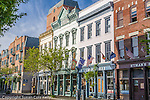 Shops and restaurants in the French Quarter,  Charleston, SC