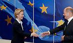 200127: Ursula VON DER LEYEN receives Olaf SCHOLZ