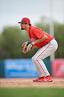 Philadelphia Phillies Luke Miller (30) during a Florida Instructional League game against the Baltimore Orioles on October 4, 2018 at Ed Smith Stadium in Sarasota, Florida.  (Mike Janes/Four Seam Images)