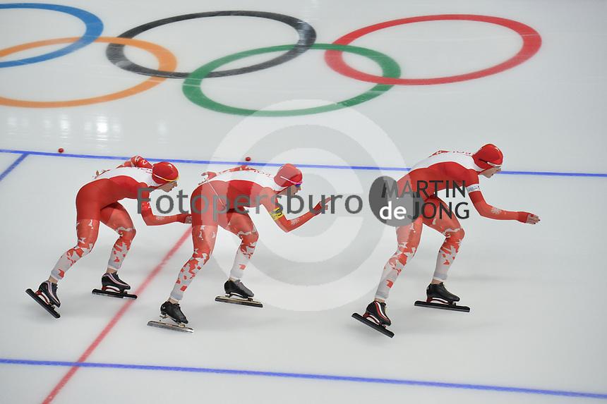 OLYMPIC GAMES: PYEONGCHANG: 19-02-2018, Gangneung Oval, Long Track, Team Pursuit Ladies, Team Poland, ©photo Martin de Jong