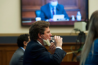 "U.S. Securities and Exchange Commission Chairman Jay Clayton, testifies before a House Committee on Financial Services hearing entitled ""Capital Markets and Emergency Lending in the COVID-19 Era"" in the Rayburn House Office Building on Capitol Hill in Washington, DC., Thursday, June 25, 2020. <br /> Credit: Rod Lamkey / Pool via CNP/AdMedia"