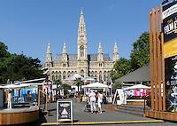 15. internationales Filmfestival, Neugotisches Rathaus, Rathausplatz, Wien, Österreich, UNESCO-Weltkulturerbe<br /> 15th international filmfestival, neo-Gothic townhall, Vienna, Austria, world heritage