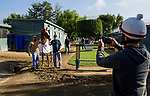 ARCADIA, CA - JUNE 19:  Grooms pose for a picture with the 13th Triple Crown Champion Justify at Santa Anita Park on June 19, 2018 in Arcadia, California.(Photo by Alex Evers/Eclipse Sportswire/Getty Images)