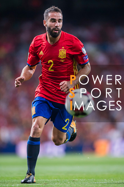 Daniel Carvajal of Spain in action during their 2018 FIFA World Cup Russia Final Qualification Round 1 Group G match between Spain and Italy on 02 September 2017, at Santiago Bernabeu Stadium, in Madrid, Spain. Photo by Diego Gonzalez / Power Sport Images
