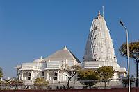 Jaipur, Rajasthan, India.  Birla Mande Temple, also known as the Laxmi Narayan Temple, a Hindu Temple dedicated to Lord Vishnu (Narayan) and his consort Lakshmi.
