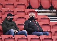 23rd April 2021; Ashton Gate Stadium, Bristol, England; Premiership Rugby Union, Bristol Bears versus Exeter Chiefs; Warren Gatland watches the match with interest