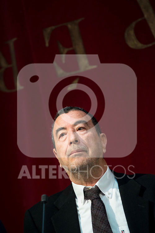 """Spanish director Jose Luis Garci during the presentation of the new production of the Spanish Theater """"Arte Nuevo""""  at spanish theater in Madrid, February 16, 2016<br /> (ALTERPHOTOS/BorjaB.Hojas)"""