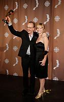 Montreal (Qc) CANADA - Sept 14, 2008 - <br /> <br /> Pierre Verville,Laurence Leboeuf ,  LES LAVIGUEUR, LA VRAI HISTOIRE,<br /> <br /> 2008 Gemeaux Gala rewarding French-Canadian television.
