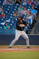 Jupiter Hammerheads Harrison Dinicola (12) bats during a Florida State League game against the Tampa Tarpons on July 26, 2019 at George M. Steinbrenner Field in Tampa, Florida.  Tampa defeated Jupiter 4-3 in the second game of a doubleheader.  (Mike Janes/Four Seam Images)