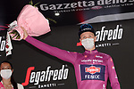 Tim Merlier (BEL) Alpecin Fenix retains the points Maglia Ciclamino at the end of Stage 3 of the 2021 Giro d'Italia, running 190km from Biella to Canale, Italy. 10th May 2021.<br /> Picture: LaPresse/Gian Mattia D'Alberto | Cyclefile<br /> <br /> All photos usage must carry mandatory copyright credit (© Cyclefile | LaPresse/Gian Mattia D'Alberto)