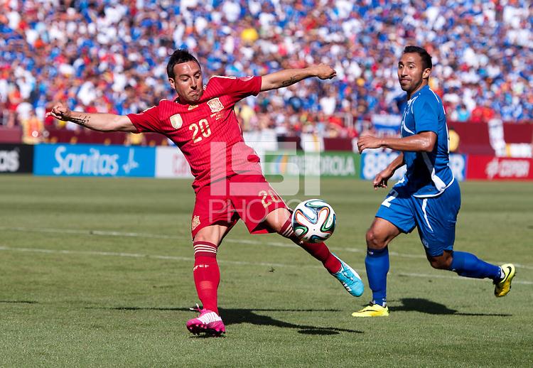 Landover, MD - June 7, 2014: Spain defeated El Salvador 2-0 during an international friendly at PPL Park.