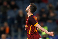 Calcio, Serie A: Roma vs Sampdoria. Roma, stadio Olimpico, 7 febbraio 2016.<br /> Roma's Miralem Pjanic reacts after missing a scoring chance during the Italian Serie A football match between Roma and Sampdoria at Rome's Olympic stadium, 7 January 2016.<br /> UPDATE IMAGES PRESS/Riccardo De Luca